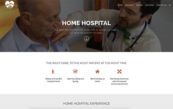 Brigham Health Home Hospital Website homepage