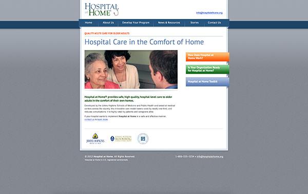 Johns Hopkins University Website homepage